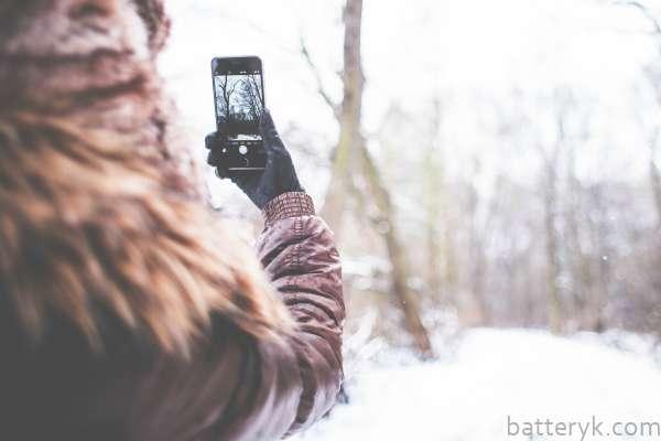 С iPhone 6 зимой