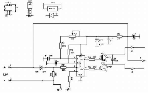 Принципиальная схема генератора частоты