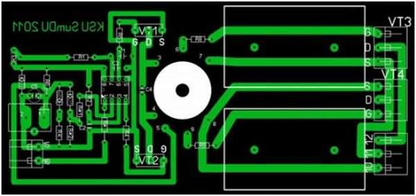 Схема электрической платы генератора частоты индукционной печи