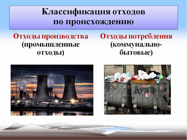 классифицируются отходы производства