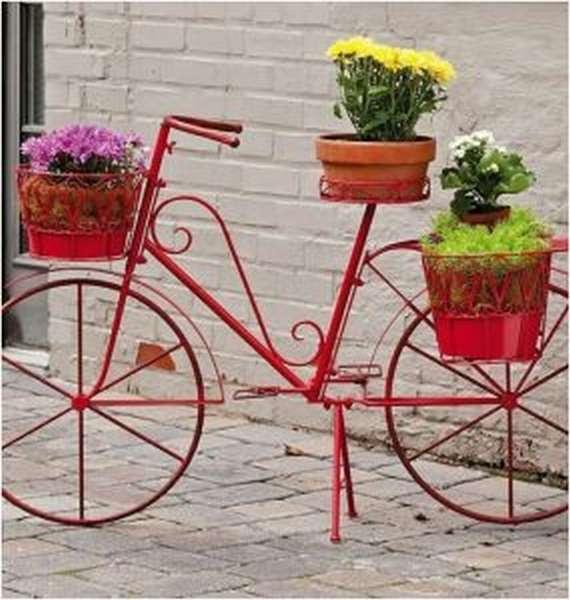 Подставки для цветов в виде велосипедов