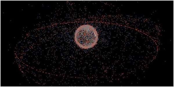 карта мусора в космосе