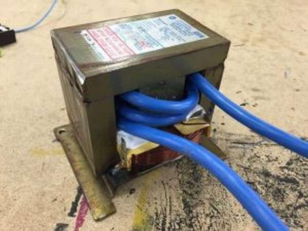 Трансформатор микроволновки для точечной сварки
