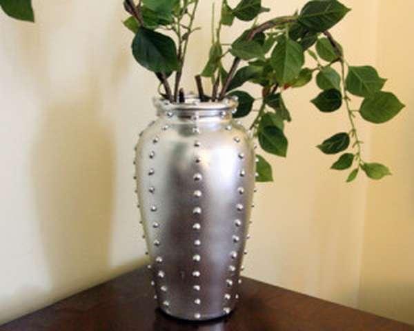 ваза из олова