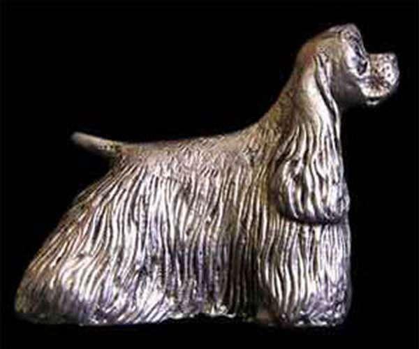Фигурка из олова - собачка