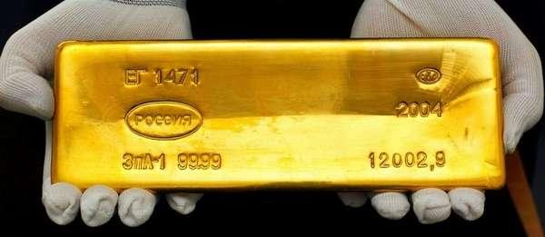 Сколько весит стандартный российский слиток золота и сколько он сегодня стоит?