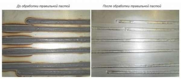 Применение паст не только придает эстетики сварным швам, но и повышает эксплуатационные характеристики