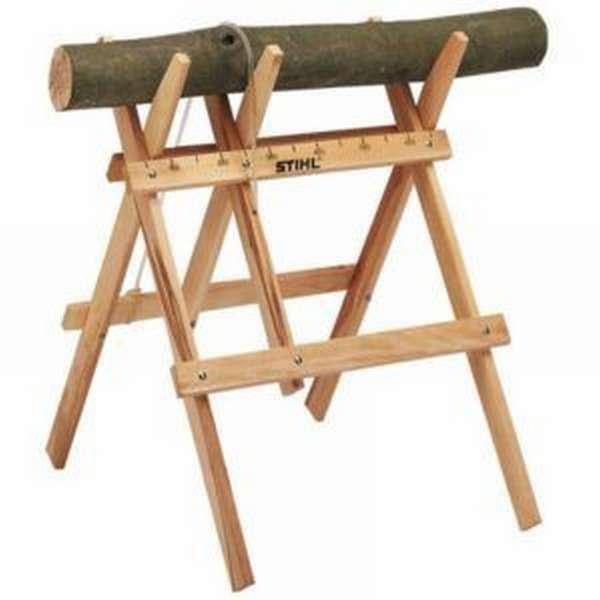Хранения козла для распиловки брёвен в теплом помещении, позволит продлить срок службы на много лет
