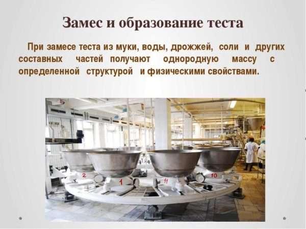 Замес и образование теста для производства макорон