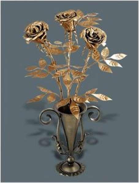 Подставка для кованной розы