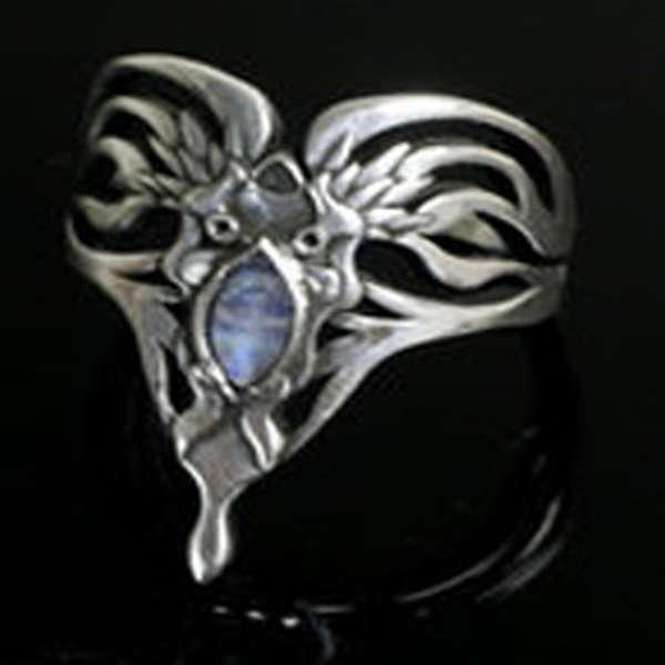Оловянное кольцо сделанное мастером