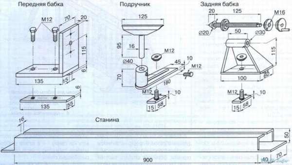 Токарный станок своими руками чертеж