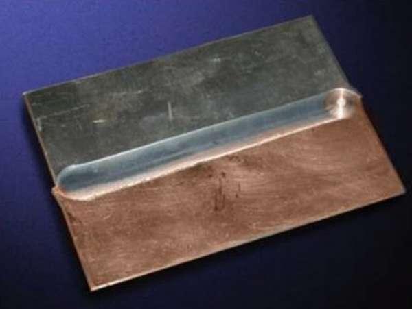 Сваренные листы меди и алюминия