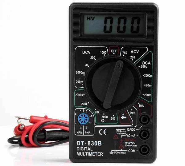 Проверка батареек мультиметром