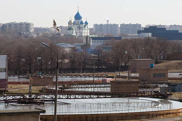 загрязненная Москва