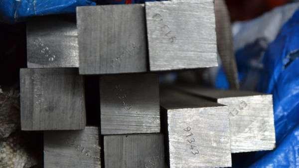 Квадратная форма металлического изделия