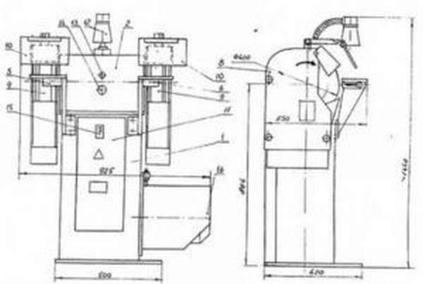 Схема точильно-шлифовального станка марки ТШ-3
