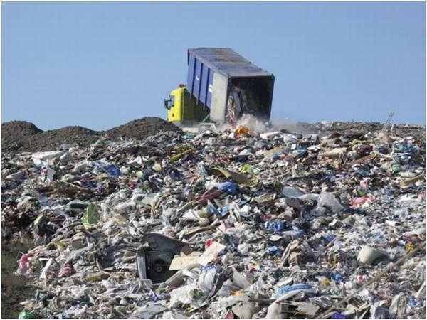 выброс мусора на свалку
