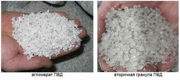 гранулы из полиэтилена