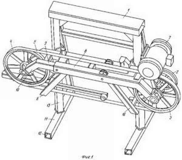 Схема роликов ленточной пилорамы