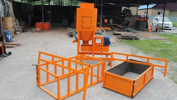 Конвейерная мини-линия для производства газобетона