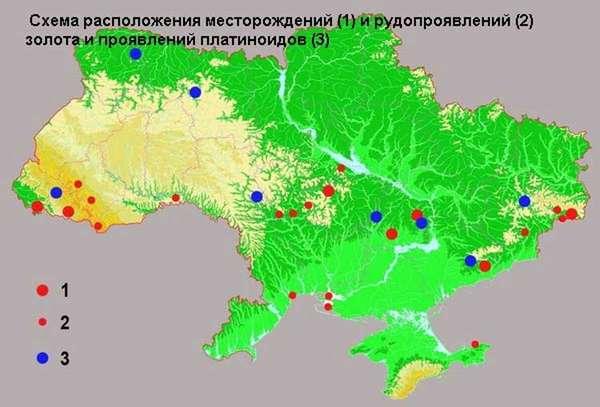 Есть ли золото в Украине и где его добывают: список месторождений + карты