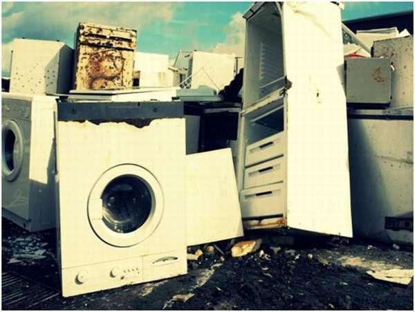 свалка стиральных машин