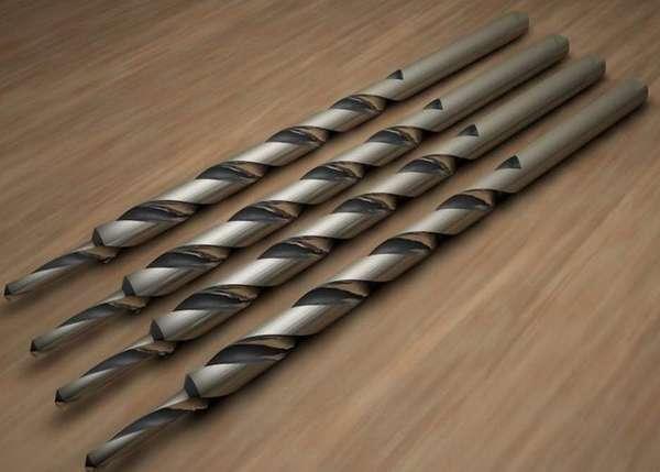 Цилиндрические или спиральные сверла