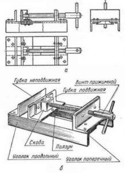 Схема тисков