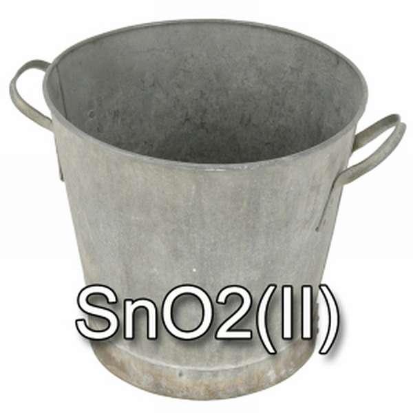 Оксид олова SnO2(II) - тазик в роли символа олова