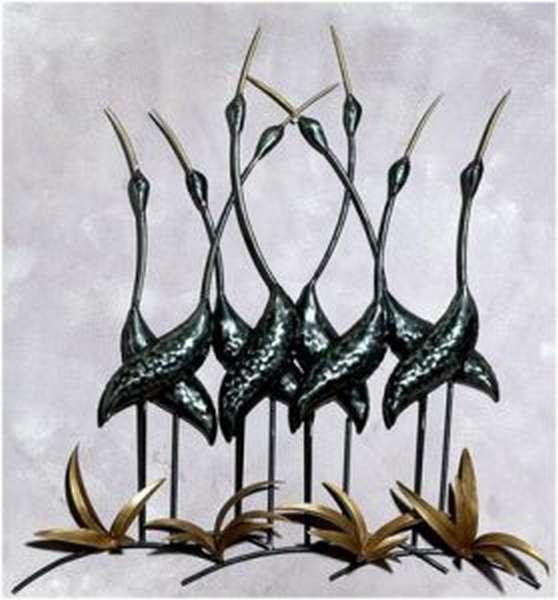 Птицы-украшения из металла
