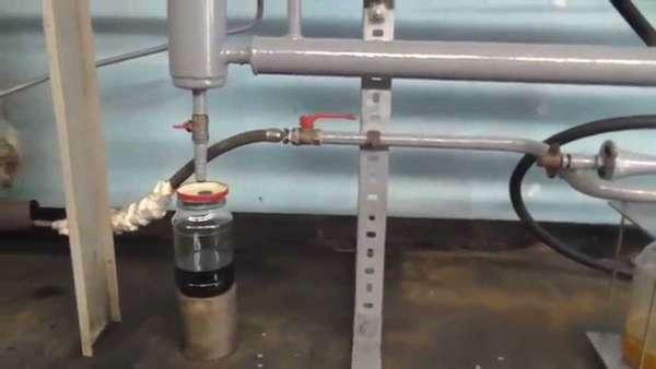 Пиролизная установка в действии