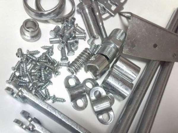 Крепежи и мелкие изделия, оцинкованные гальваническим способом