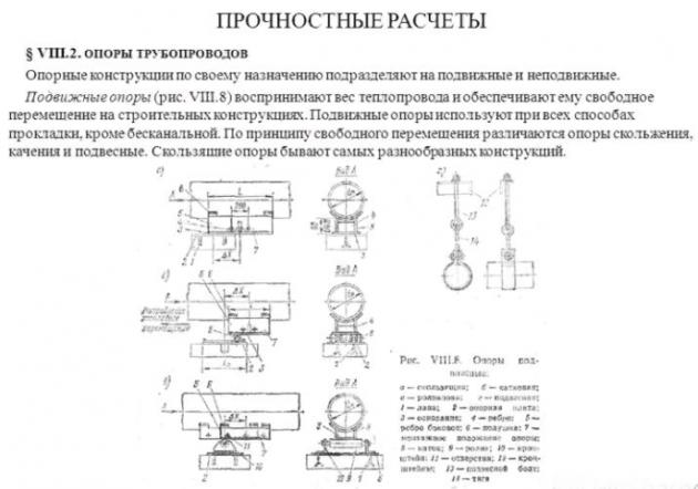Назначение опор для трубопроводов
