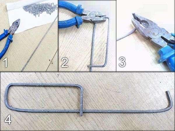 Крюк из электрода своими рукам